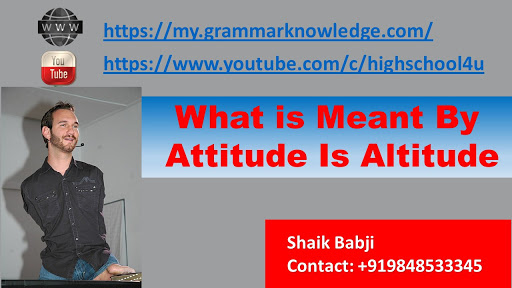 What is Meant By Attitude Is Altitude