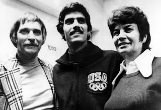 Mark Spitz with his parents