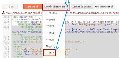 Chỉnh sửa tùy biến trong template blogspot
