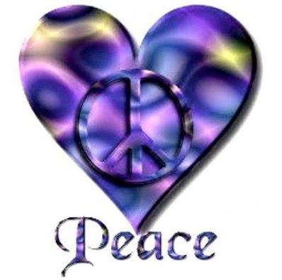 Peace and love tattoo ,heart shape