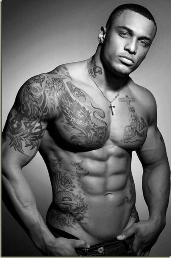 Chest Tattoo for Black Men