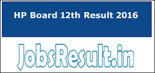 HP Board 12th Result 2016