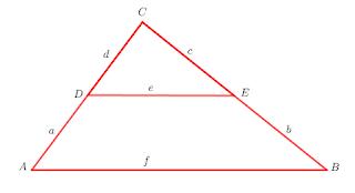 menemukan rumus garis-garis sejajr pada sisi segitiga