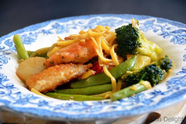 healthy chicken stir fry מוקפץ עוף וירקות בריא