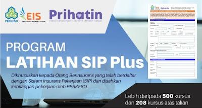 Permohonan Dan Semak Status Program Latihan SIP PLUS Online