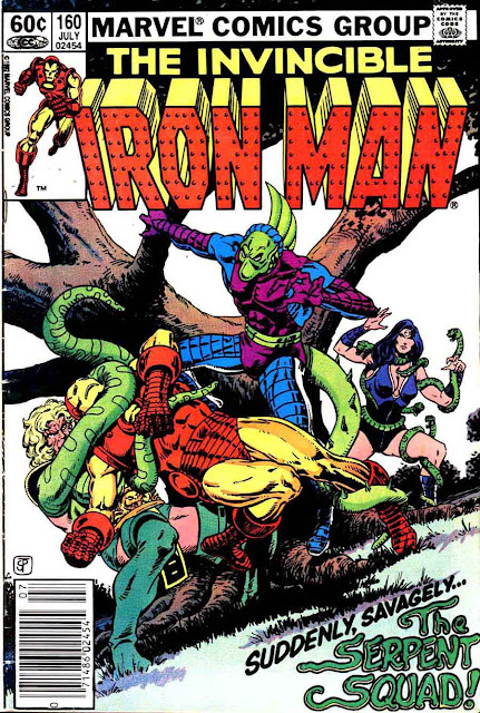 Iron Man v1 #160 marvel comic book cover art by Jim Starlin