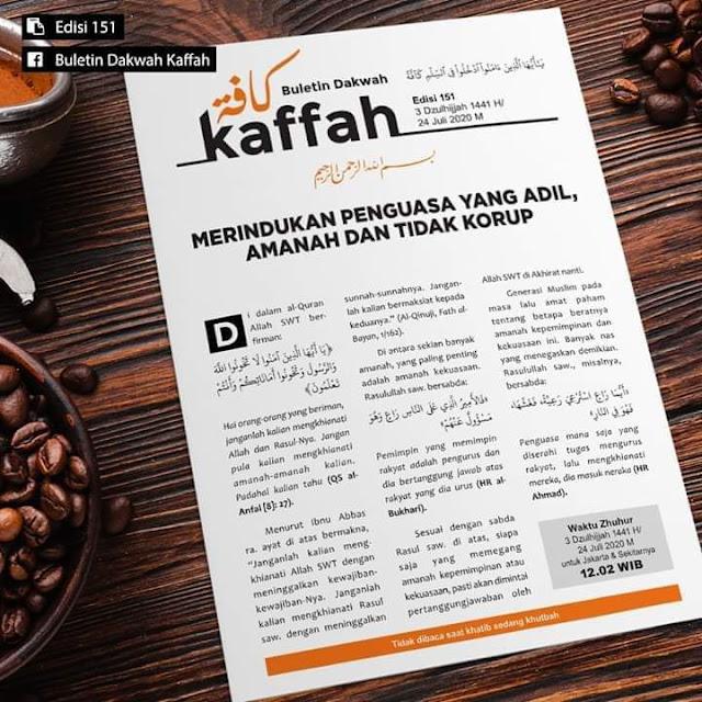 Buletin Kaffah 154 (24 Dzulhijjah 1441 H/14 Agustus 2020 M)
