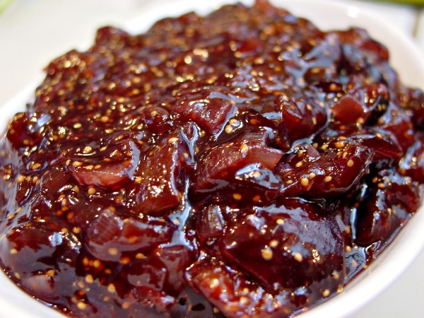 Savory Fig and Shallot Jam with bonus recipe: Wilted Spinach Salad ...