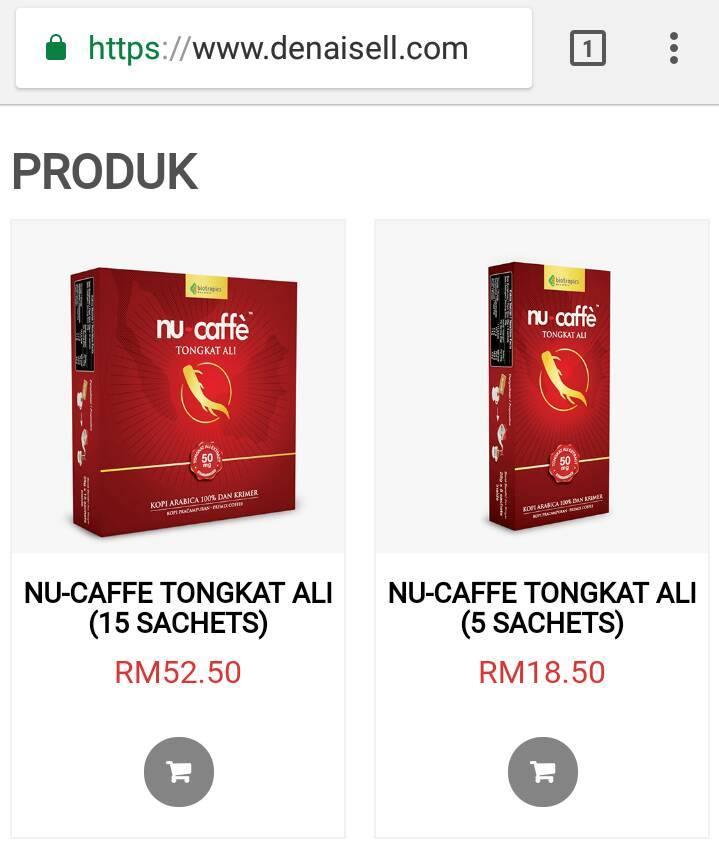 harga nucaffe