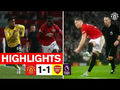 Manchester United vs Arsenal 1-1 All Goals And Match Highlights [MP4 & HD VIDEO]