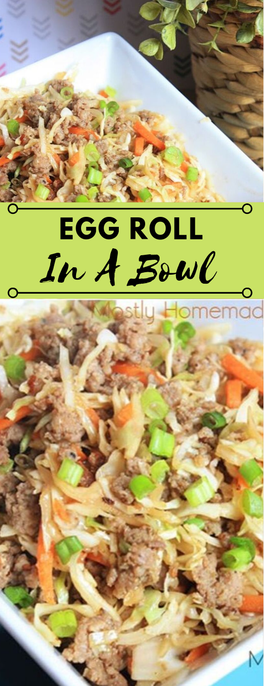 Eggroll In A Bowl #healthydiet #paleo #keto #lowcarb #kategonic