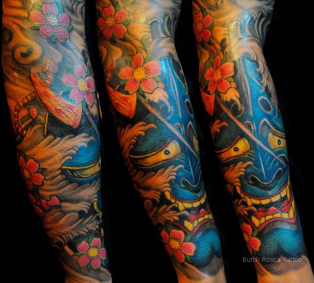 Latest Tattoo Designs: Blue Hannya Tattoo