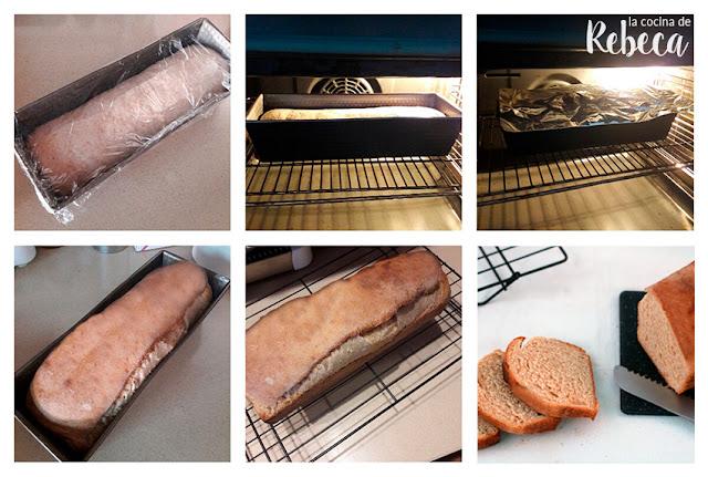 Receta de pan de molde: horneado