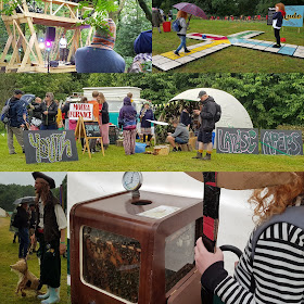 Timber Festival colllage beekeepers youth landscapers pirate
