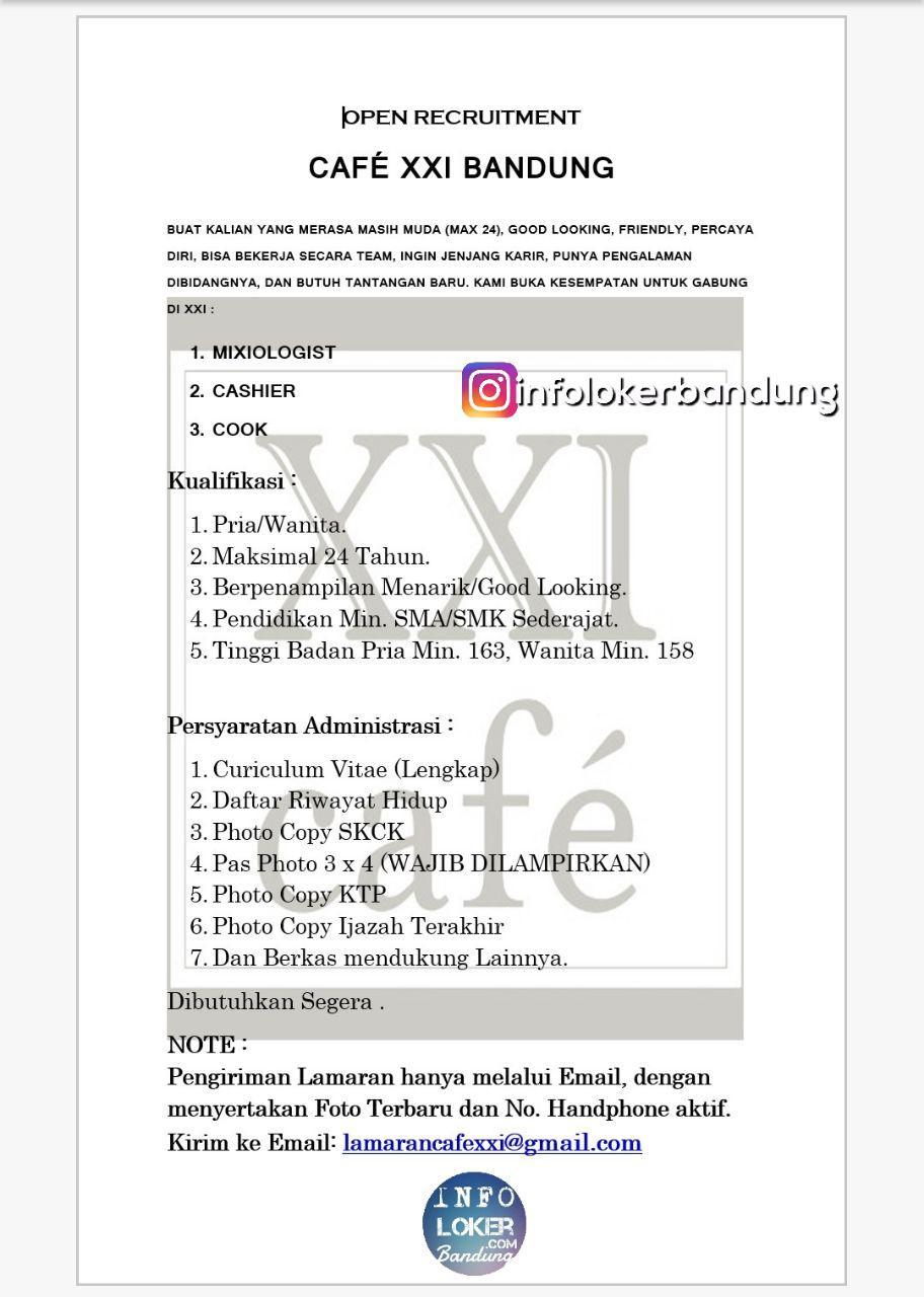 Lowongan Kerja Cafe XXI Bandung Desember 2017 width=