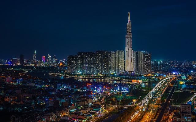 Ảnh đẹp tháp landmark 81 về đêm