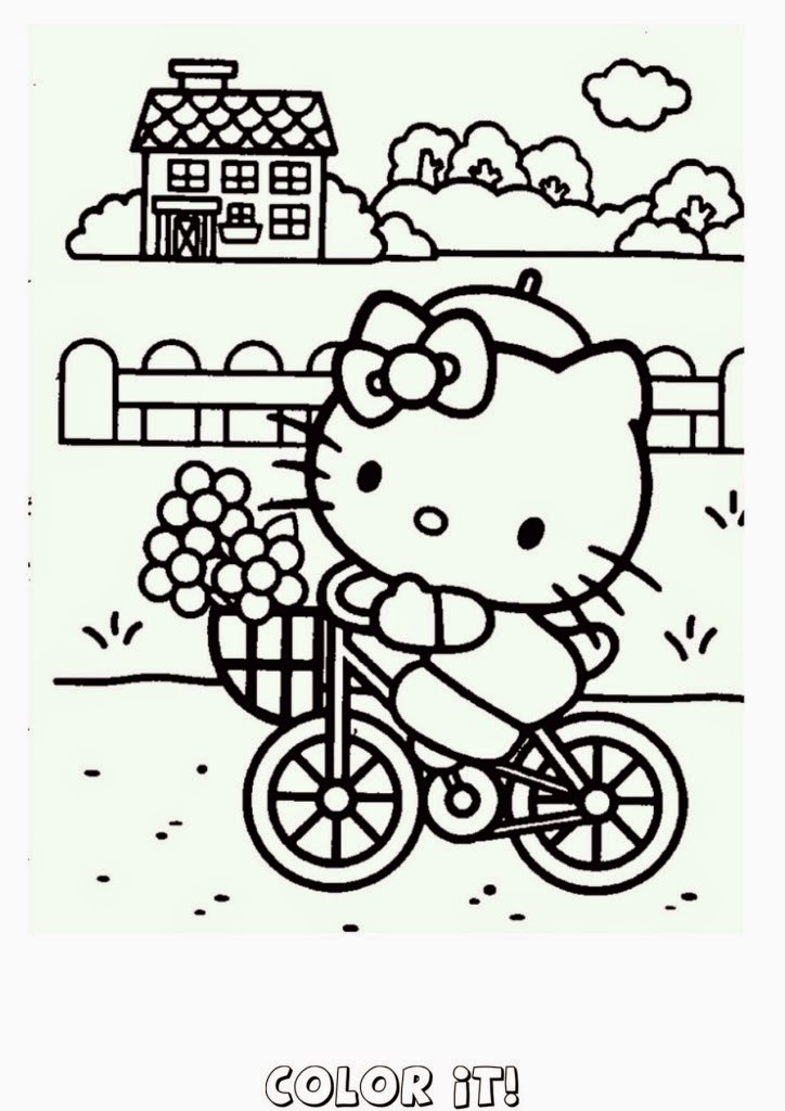 Hello Kitty Coloring Book Pages