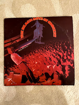 The Beach Boys In Concert vinyl LP in VG+ condition for 8 dollars on Amazon