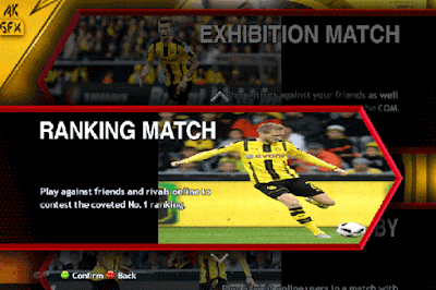 PES 2013 BORUSIA DORTMUND MENU GRAPHIC AND VIDEO BACKGROUND