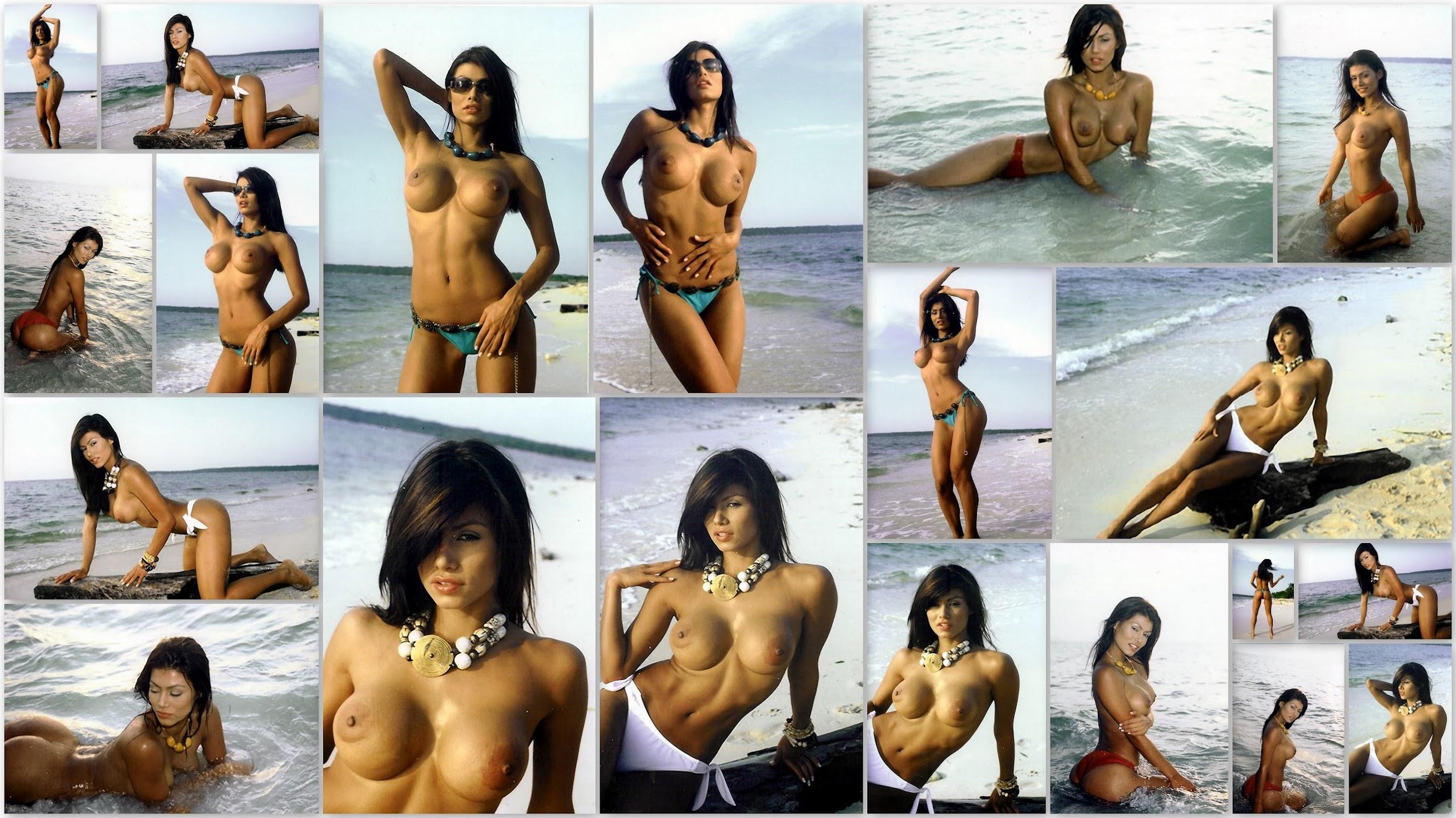 Renata Gonzalez Fotos Topless En La Playa Foto 1