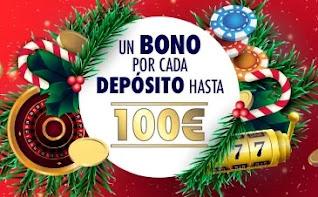 sportium Promoción de Casino - Bono Recarga 50% hasta 100€ 3-1-2021