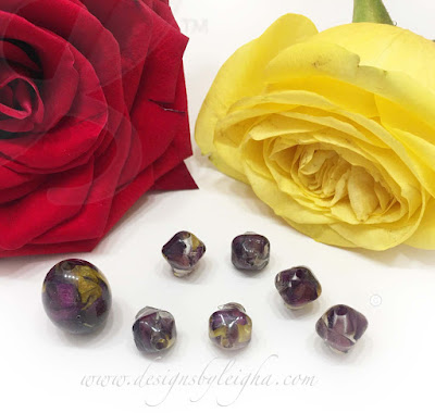 Yellow and Red Memorial Flower Beads