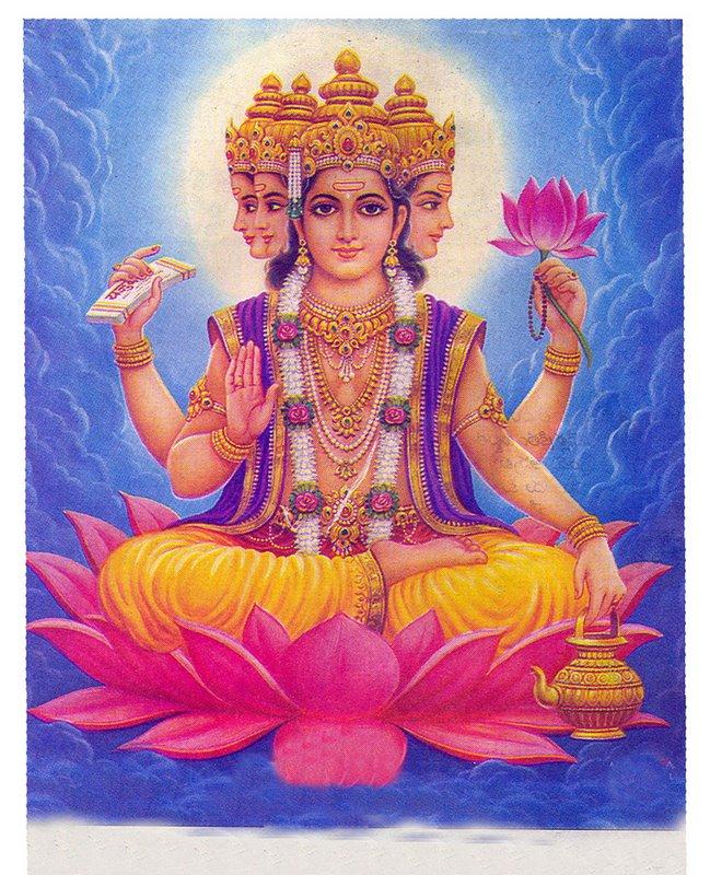Brahma Vishnu E Shiva A Trimúrti Hindu Mente Não Dormente