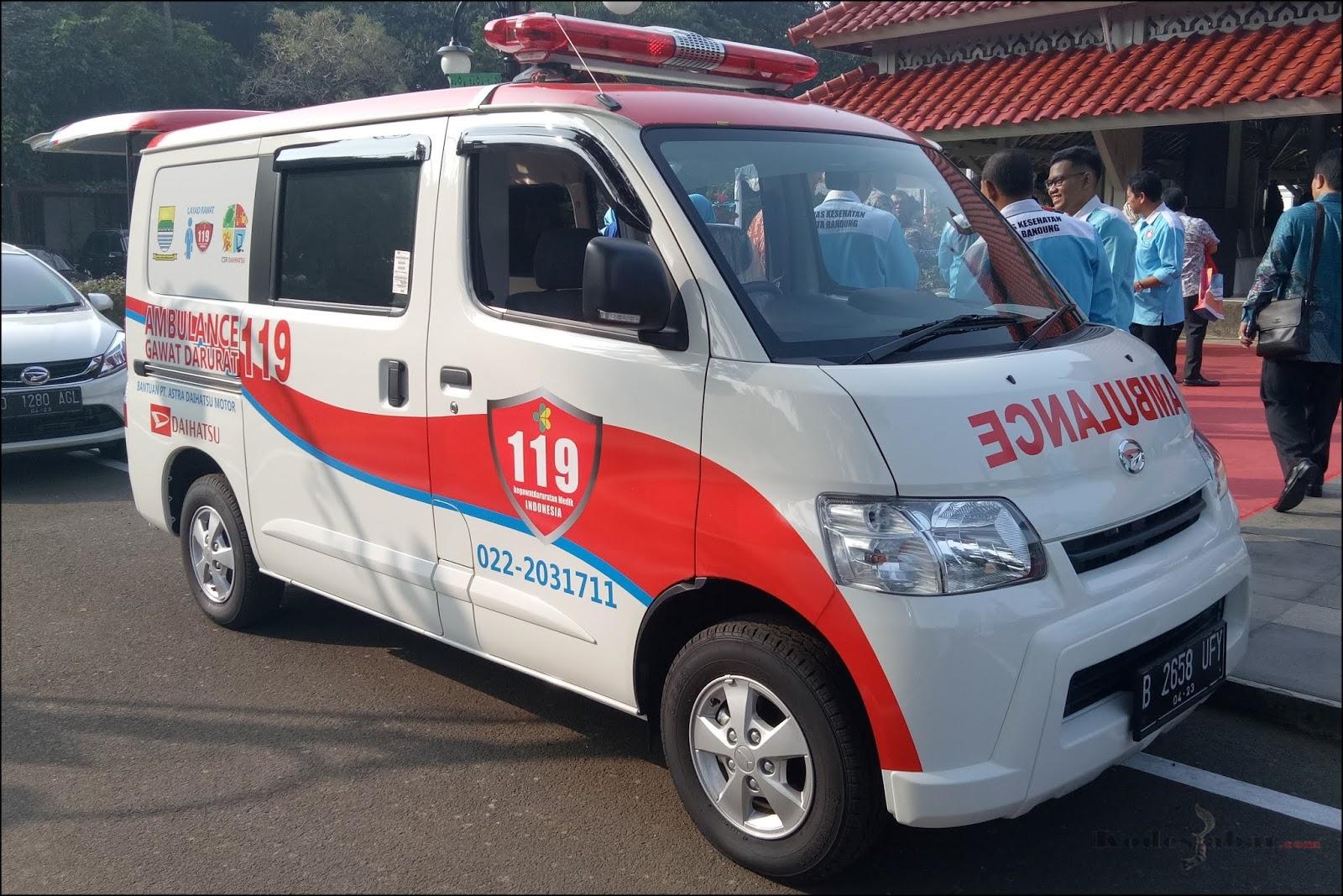 Daihatsu Sumbangkan Ambulans Mini ICU Untuk Dukung Program Layad Rawat Pemkot Bandung