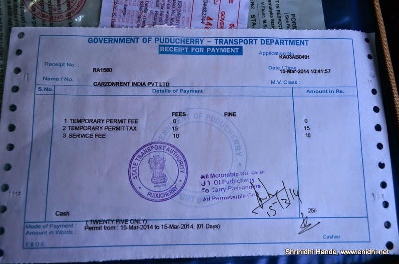 Interstate Tourist Taxi Permit Fee Mafia Enidhi India