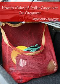 How to make a cargo net car organizer