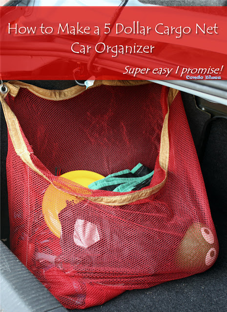 How to make a cargo net car organizer