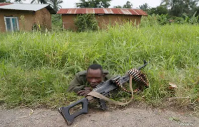 A drunken soldier in the Democratic Republic of Congo's (DR Congo) troubled east opened fire on passers-by, killing at least 13 people including a two-year-old girl