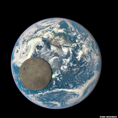 Dark Side of Moon Passes in Front of Earth July 2015