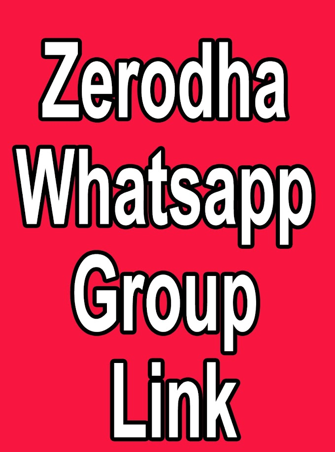 Zerodha Whatsapp Group Link