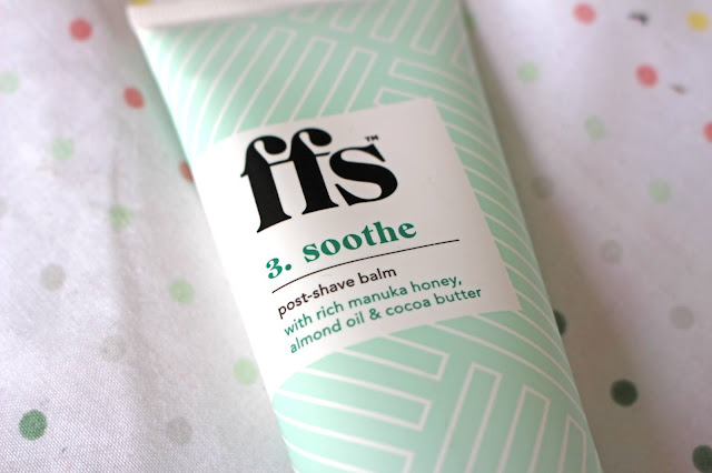 FFS women's razor subscription three step shaving post shave balm review