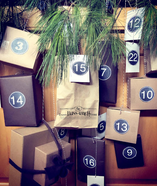 Brown Paper Bag Advent Calendar Bliss-Ranch.com