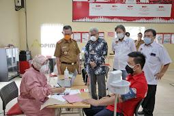 Fahrizal Darminto Tnjau Pelaksanaan Vaksinasi Covid-19 Gotong Royong di Lampung