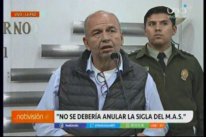 """Murillo: """"No se debería  anular la sigla del MAS pero se debería encarcelar a los sinvergüenzas"""""""