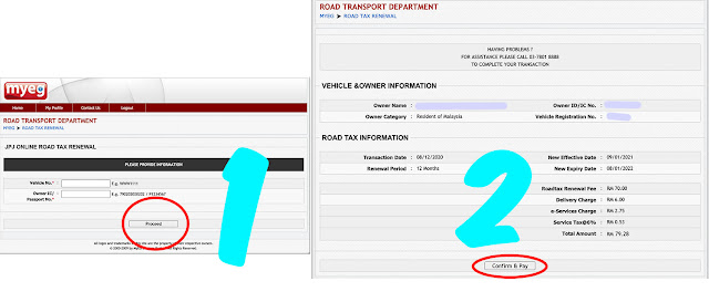 harga renew roadtax kereta