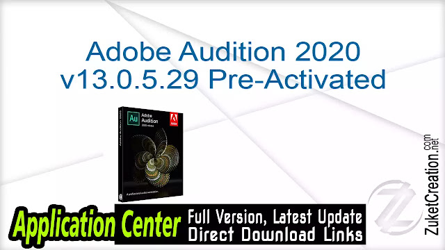 Adobe Audition 2020 v13.0.5.29 Pre-Activated