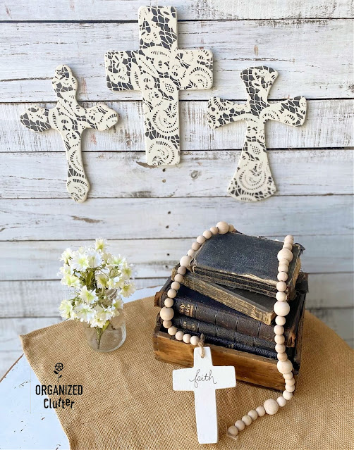 Photo of Bibles & painted and stenciled Crosses