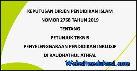 Juknis Penyelenggaraan Pendidikan Inklusif RA 2019