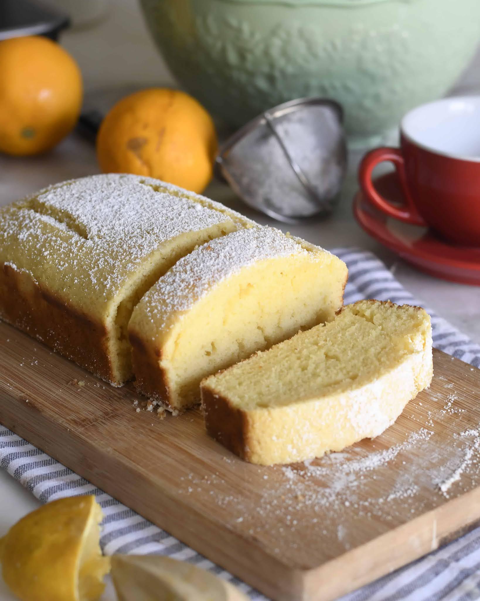 Italian Lemon Plumcake (Pound Cake)