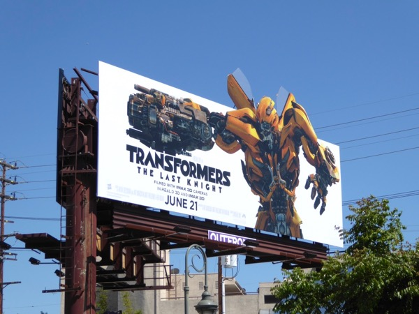 Transformers Last Knight billboard