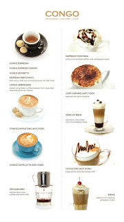 Menu minuman Congo Cafe