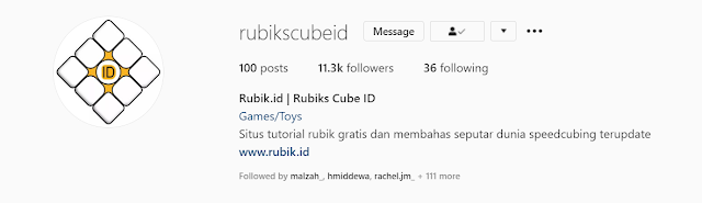 instagram rubik's cube indonesia