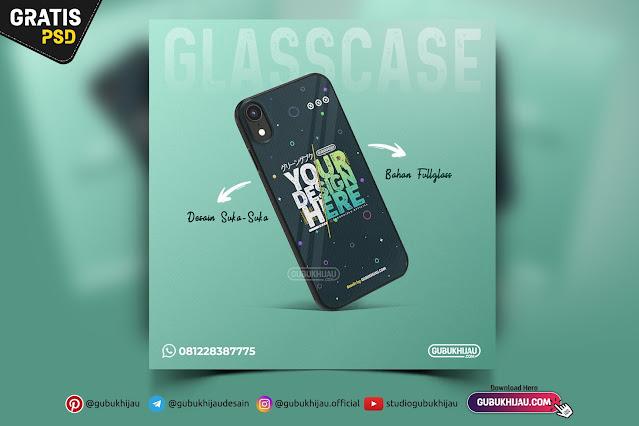 Mockup Glass Case iPhone XR by gubukhijau