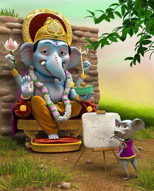 Cute Ganesha Images & Wallpapers