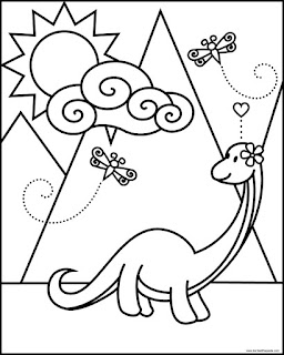 Cute brontosaurus printable coloring page. Available in jpg and transparent png.