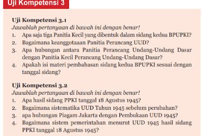 Soal dan Jawaban Uji Kompetensi 3.1 ~ PKN kelas 7 halaman 81